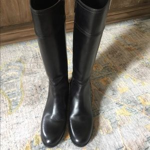 Tory Burch Women's Black Riding Knee Boots Sz 7